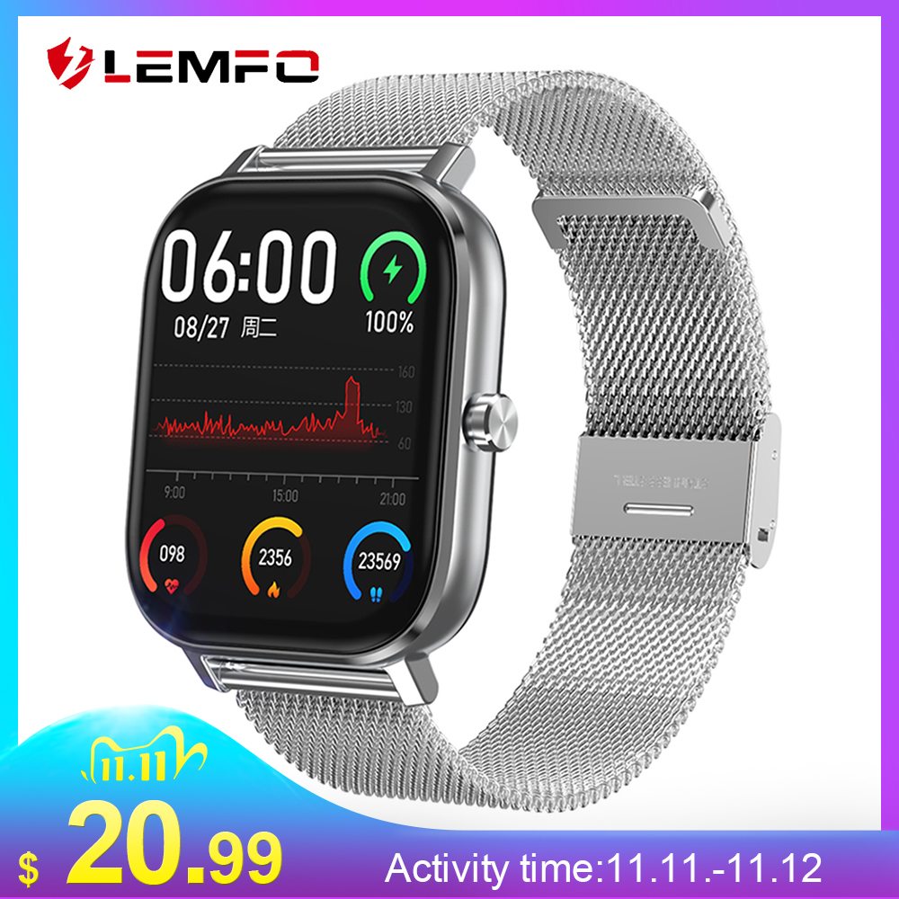 LEMFO Smart Watch 2020 New PPG ECG SmartWatch Men Bluetooth Call 24-Hour Heart Rate Monitor DIY Watch Face For Android GTS