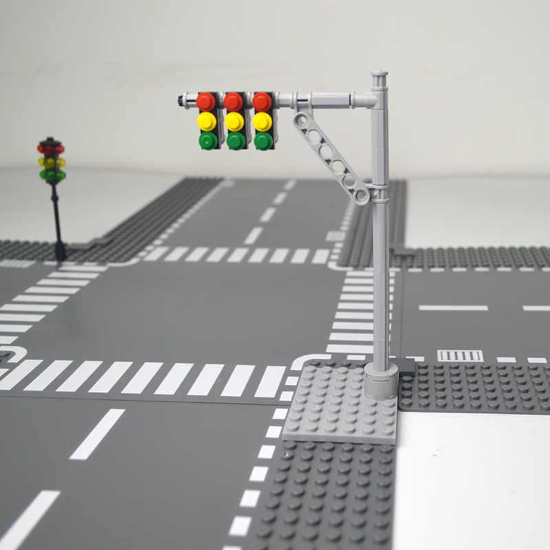 Thành Phố Đường Phố Đế Thẳng Ngã Tư Đường Cong Ngã Ba Khối Xây Dựng 7280 Tương Thích 7281 Với Legoe Thành Phố Tấm Nền