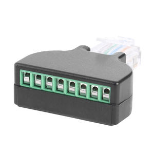 Image 5 - RJ45 Male Plug to 8 Pin AV Screw Connector Adapter for Cat7 Cat6 Cat5 CCTV DVR Network Extender Extension Cable Promotion