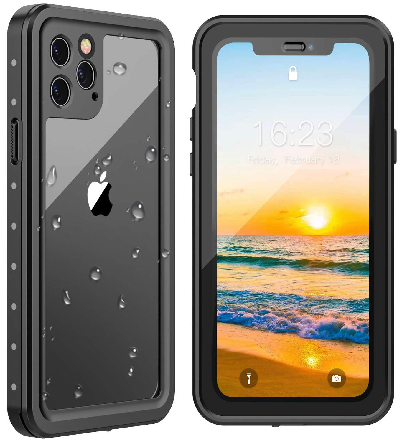 For iPhone 11 <font><b>case</b></font> Waterproof Shock Dirt Snow <font><b>Proof</b></font> Protection for iPhone11 Pro/Pro Max <font><b>Phone</b></font> <font><b>case</b></font> With Touch ID Cover Redpepper image