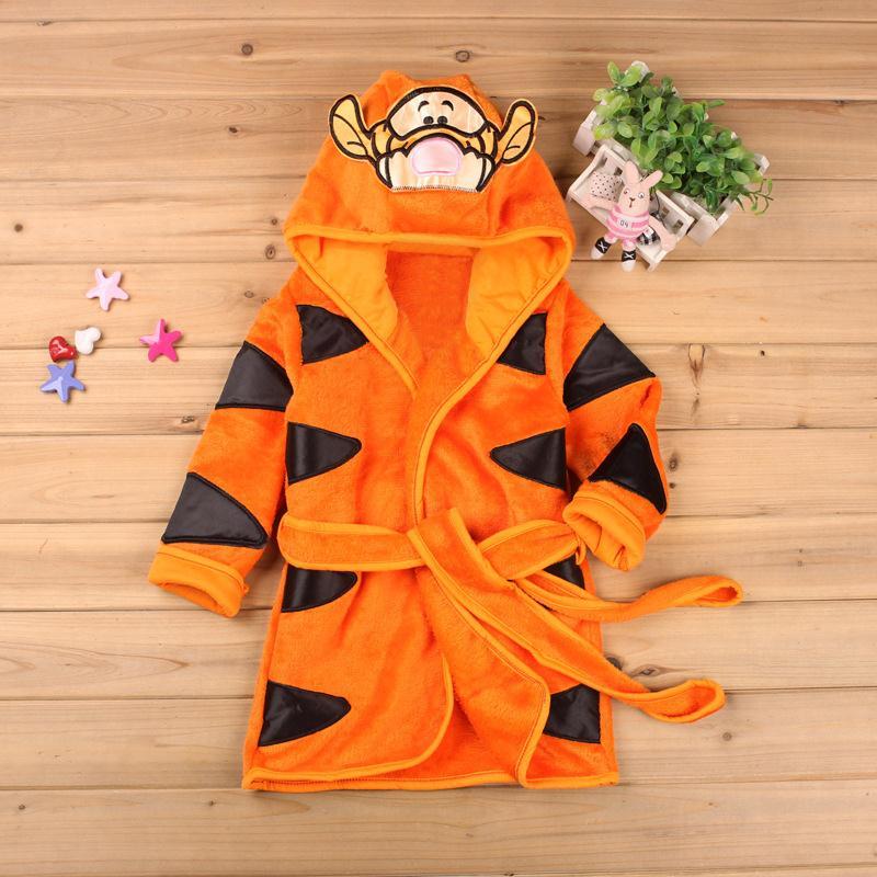 Children's Bathrobe Nemo Minnie Mickey  Soft Velvet Robe Baby Girls Pajamas Coral Kids Warm Toddler Robes Infant Clothes 5
