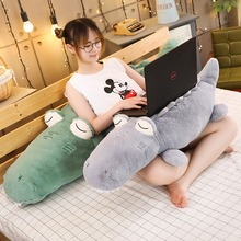 YY Soft Stuffed Animal Real Life Alligator Pillow Doll Creative Simulation Crocodile Plush Toy Nap Pillow Baby Kid Birthday Gift