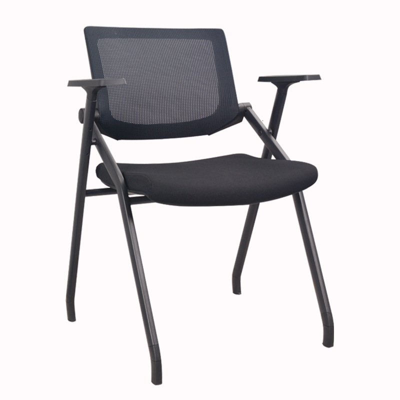 Office Chair Folding Meeting Chair Office Computer Chair Mesh Cloth With Wheel Training Chair With Writing Board