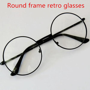 Fashion Vintage Retro Metal Frame Clear Lens women Glasses Nerd Geek Eyewear Eyeglasses Black Oversized Round Circle Eye Glasses