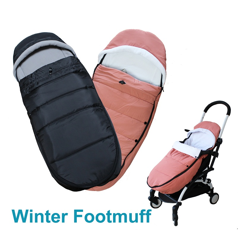 2019 Winter Baby Stroller Accessories Footmuff Or Sleeping Bag For Babyzen YOYO BUGABOO BEE5 Cybex Goodbaby Chicoo Pram Stroller