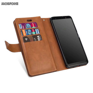 Image 5 - Folio Book Leather Wallet Case on Oneplus 5T Retro Diary Flip Cover for Oneplus5T 5 T Zipper 9 Card Slots Stand Fundas Cases