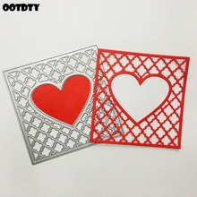 Hollow Heart Metal Cutting Dies Stencil Scrapbooking DIY Album Stamp Paper Cards Embossing Decor Craft Art New Dies for 2020 leaf lantern metal cutting dies stencil scrapbooking diy album stamp paper cards embossing decor craft art new dies for 2020