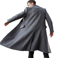 2020 Fashion Man Solid Trench Coats Long Sleeeve Pockets Simple Basic Long Coats Streetwear Single-breasted Male Casual Coat