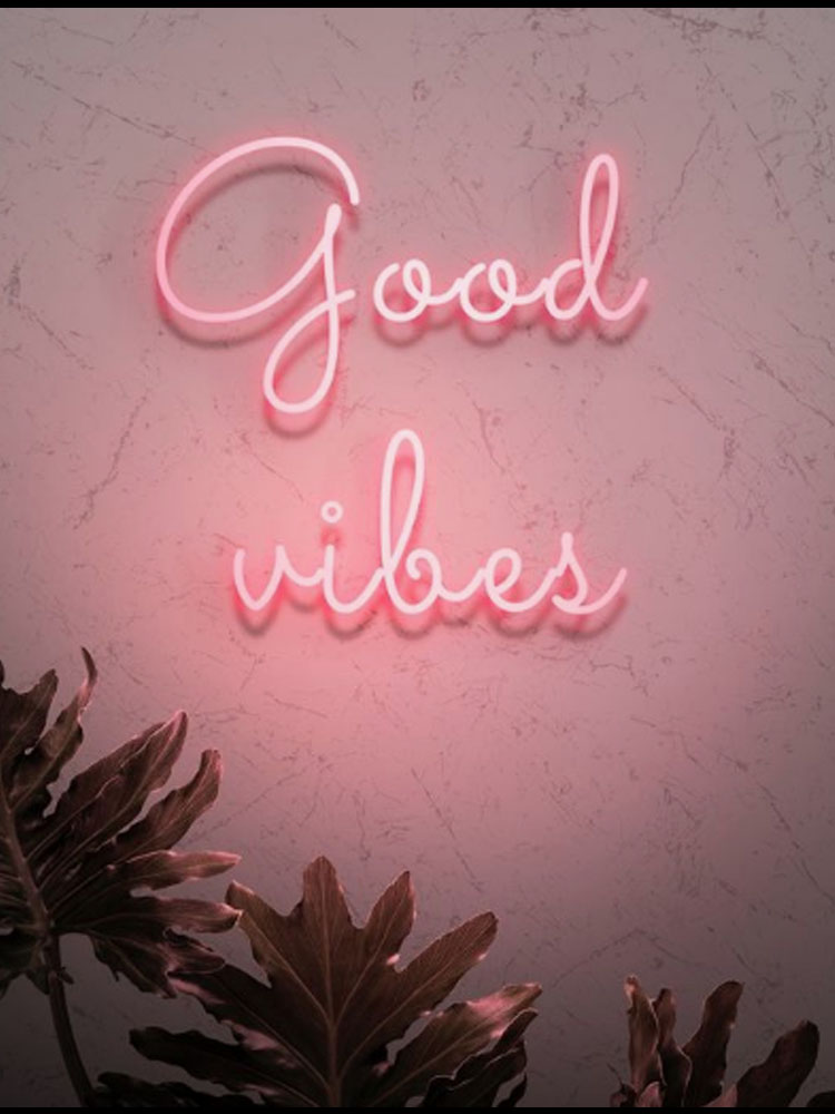 Neon Sign For Good Vibes Neon Light Signs Glass Neon Lamp For Room Neon Tubes Signs Decoration Custom Lamp Weding Party Bedroom