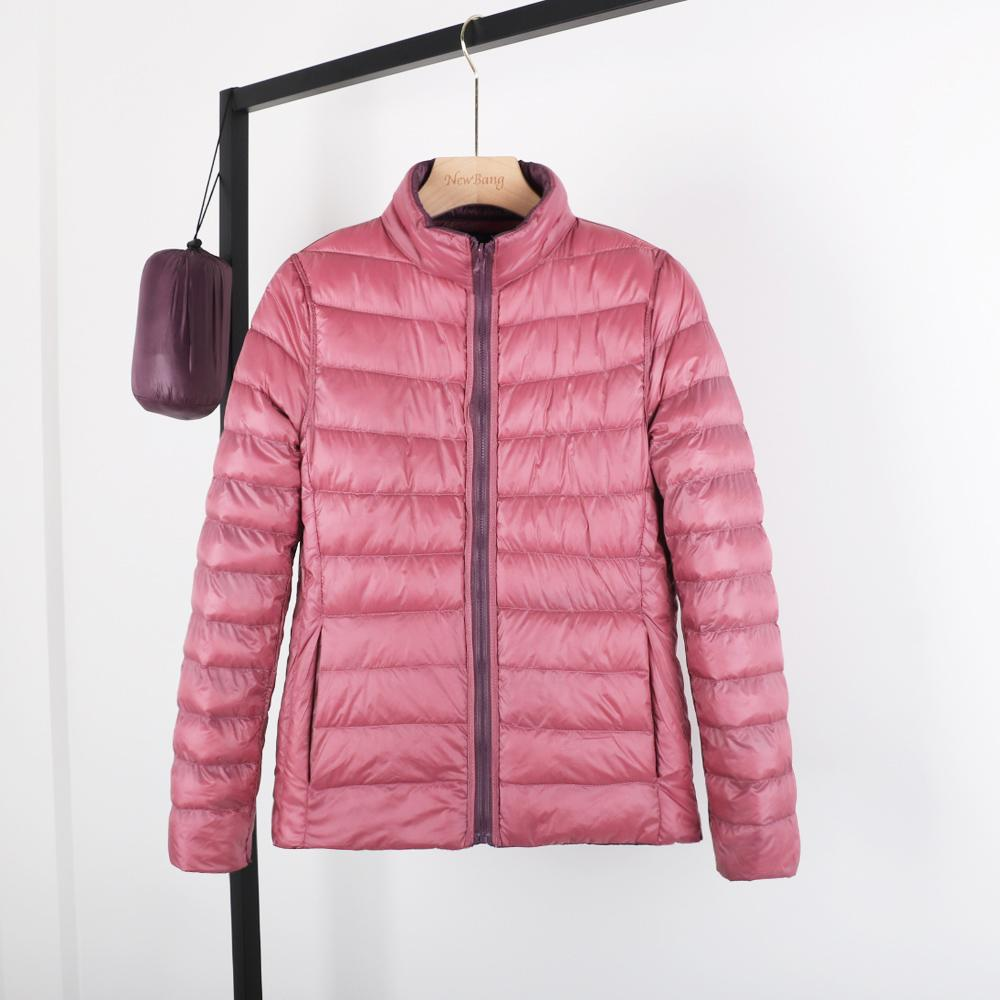 NewBang Double-sided Woman Ultra Light Down Jacket Duck Down Windbreaker Coat With A Bag