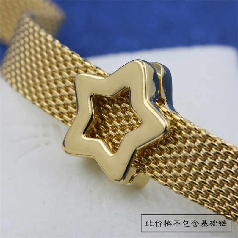PAN Jia Golden ใหม่ Reflexions ตำแหน่งหัวเข็มขัดแบนโซ่อุปกรณ์ PAN Jiaping CHAIN FIXED BUCKLE แบนสร้อยข้อมือ