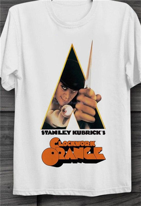 A Clockwork Orange Mens Retro 70s Movie T-Shirt Stanley Kubrick Film Poster Top