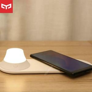 Image 1 - オリジナルyeelightワイヤレス充電器ledナイトライト磁気吸引のための急速充電サムスンのためのiphone xiaomi