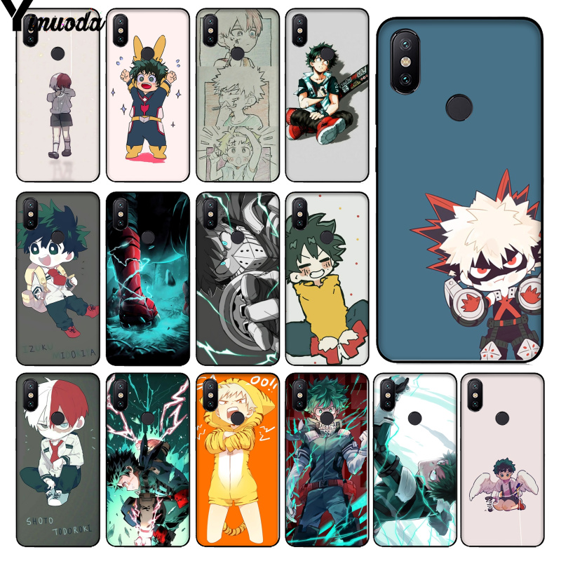 Yinuoda <font><b>Anime</b></font> Boku no Hero Academia deku and bakugou Luxury Phone <font><b>Case</b></font> for <font><b>Xiaomi</b></font> Redmi 5 5Plus 7 K20 Note5 6A <font><b>Mi</b></font> 6 Mix2 Mix2S image