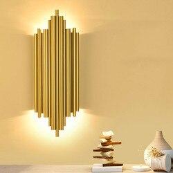 Современный минималистичный настенный светильник для гостиной, креативный роскошный прикроватный светильник для спальни, коридор, крыльц...