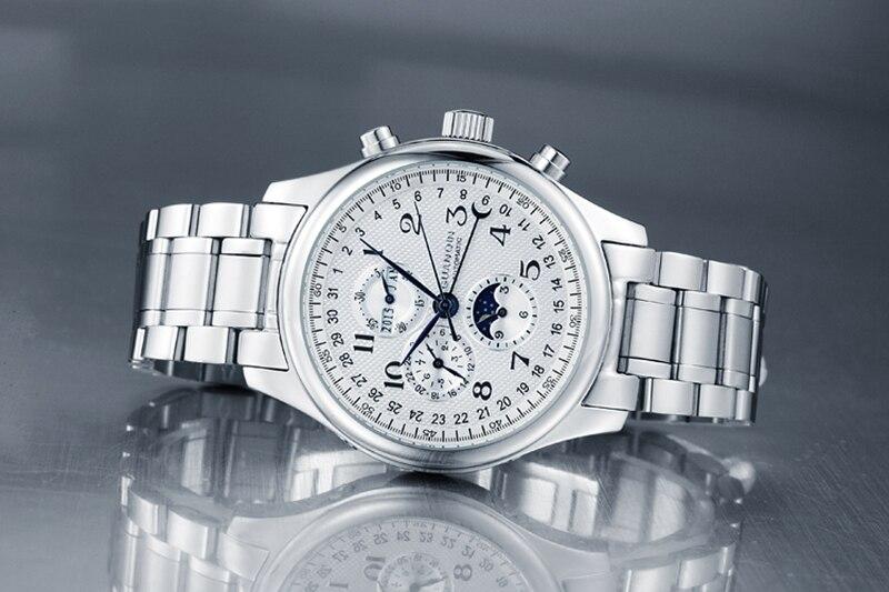 Ha59be622f1854a529636997b8b25a4569 GUANQIN Relogio Masculino Automatic Mechanical Men Watches Waterproof Calendar Moon Leather Wristwatch otomatik erkek saat