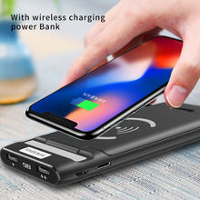 3 IN 1 10000mAh Qi Wireless Charger Power Bank For Xiaomi Mi iPhone Powerbank External Battery Wireless Charging Phone Holder(China)
