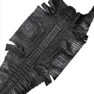 Image 5 - Iki taraflı timsah deri Watchband 14 16 18 19 20 21 22mm hakiki deri timsah saat kayışı bandı kelebek toka