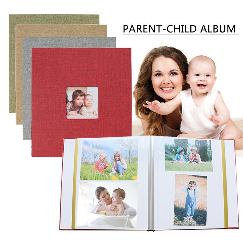 Baby Commemorative Cloth Paper 10 Inch DIY Album Retro Creatives Gift Film Self-Adhesive Baby Commemorative Parent-Child Album