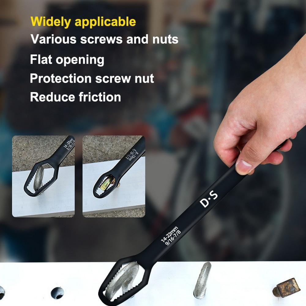 Herramienta de mano llave universal reparación de automóviles para bicicleta y motocicleta, 8-22mm