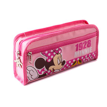 Mickey cute cartoon pencil case bag simple stationery Pink pen