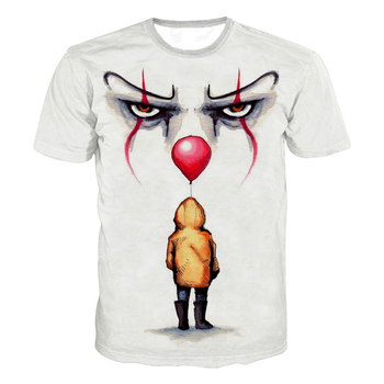 2019 Horror Movies IT Clown 3D Printed T Shirt Men Women Freddy Jason Murderers Film T Shirt Annabelle 3 Personality Tee Tops