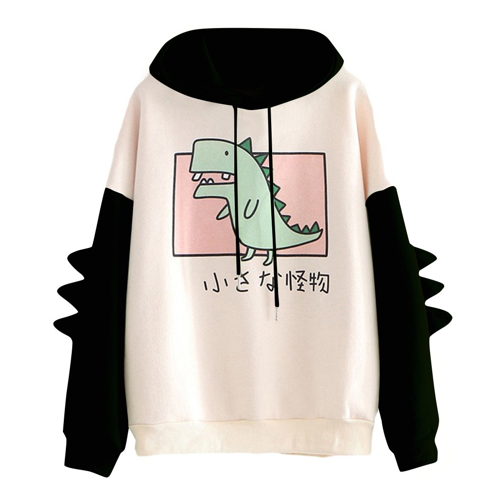 harajuku aesthetic bear anime hoodie women korean kawaii crewneck long sleeve oversized fall winter clothes kpop streetwear tops 10