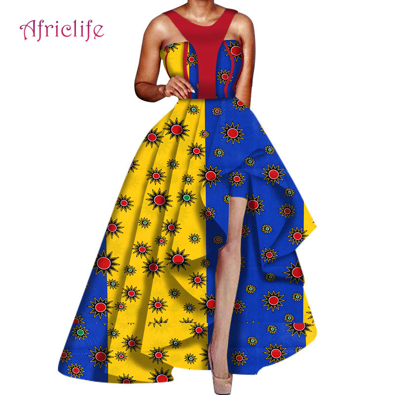Popular Pleated Skirt For Party Ball Gown African Women Dresses WY6031