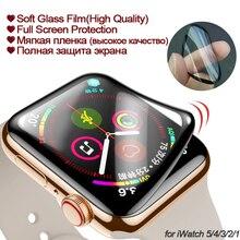 Защитная пленка для apple watch 5/4, 38, 40, 44, 42 мм, 3D, полностью изогнутая, ПЭТ, мягкая, закаленная пленка для Iwatch 3, 2, 1, полностью клеящаяся(не стекло