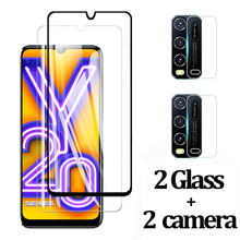 4-in-1 HD For vivo y20 Full Cover Protective Tempered Glass for VIVO Y20 y 20 Camera Lens Film Screen Protectors Protection 2020