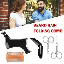 Symmetry Line Up Trimming Guide Shaving Accessories Maquillaje Beard Styling Shaping Template Comb Barber Tool TSLM1
