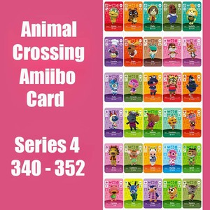 Series 4 (340 to 352) Animal Crossing Card Amiibo Card locks nfc Card Work for Switch NS Games Series 4 (340 to 352) New Leaf(China)