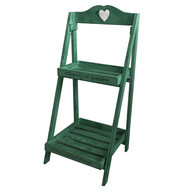 Solid Wood Flower Rack Several Ladder Landing Type Multi-storey Square Storage Shelves Balcony Flower Stand American Style