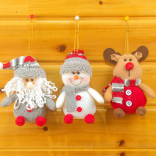 New Year Xmas tree Decoration Ornaments Santa Claus Snowman Reindeer Doll Plush Pendant Party Christmas Gift Toys for Holiday