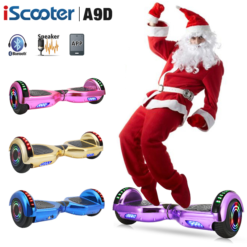 Hoverboard 6.5 Inch Chrome Electric Scooter Smart APP Control Bluetooth UL2722 Skateboard For Kids Steering-wheel Scooter image