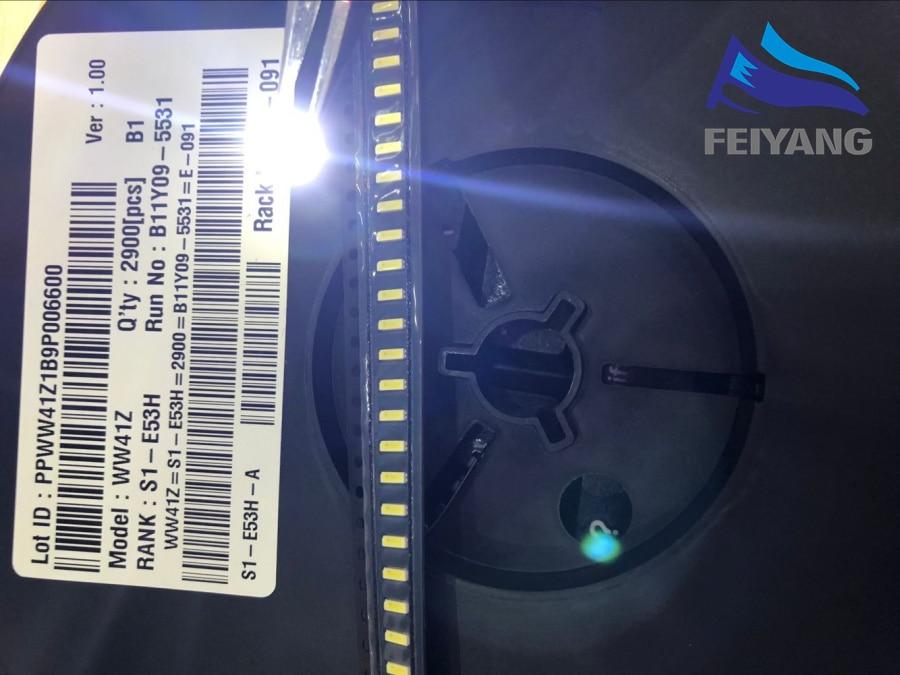 50 шт. для LG Оригинальный светодиодный ЖК-дисплей ТВ задняя светильник Применение светодиодный 4014 светильник бусины холодный белый Высокая ...