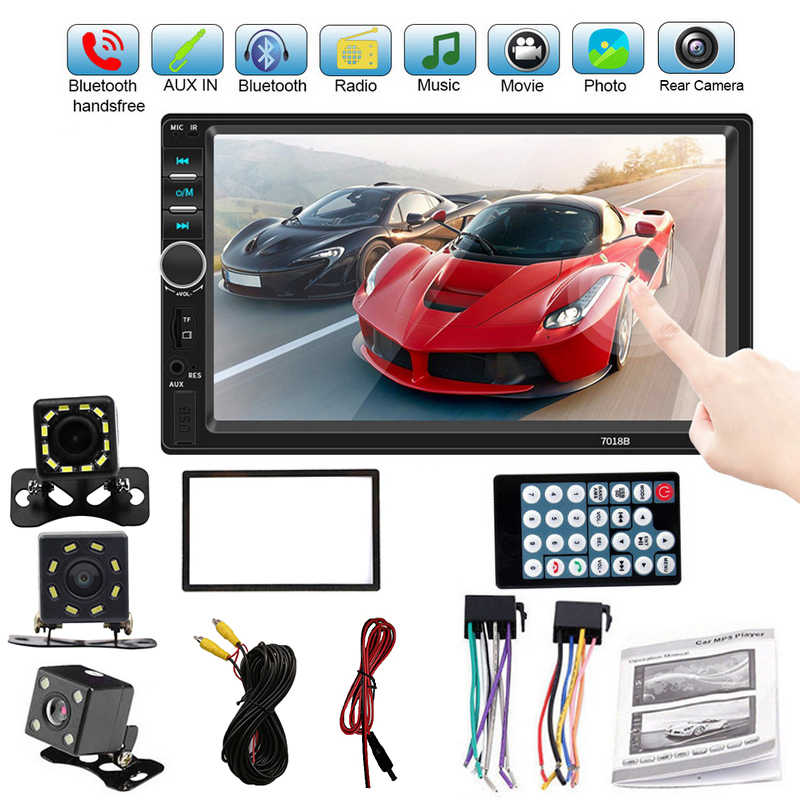 "2 Din Auto Multimedia Speler Autoradio 7018B 7 ""Mp5 Multimedia Speler Stereo Touch Screen Video Auto Radio Audio Bluetooth speler"