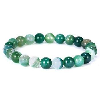 """DoreenBeads натуральный драгоценный камень индийский агат изящный Браслет Нежные браслеты браслет из бисера темно-зеленый 20 см (7 7/8 """") длинный 1 шт"""