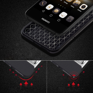 Image 3 - Luxus 3D Ständer Funda für Huawei Nova CAN L11 CAZ AL10 Hybrid Fall Silikon Abdeckung 5,0 TPU + PC 360 Schutz Mobile telefon Tasche