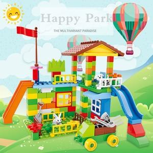Image 5 - Blocs de construction grande taille, parc dattractions, briques à assembler, compatibles pour le bricolage, jouets pour enfants