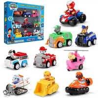 9 Uds. Patrulla de patas perro cachorro Patrulla coche Patrulla Canina juguetes figuras de acción modelo de juguete de modelo de coche de juguete