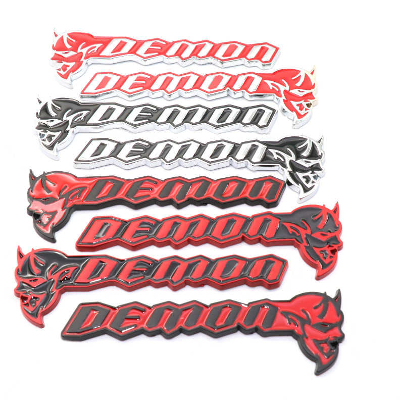1 stuk Sticker Voor Dodge Demon Hellcat SRT Coupe Challenger Charger Journey Nitro Kaliber Zinklegering Decal Auto Accessoires