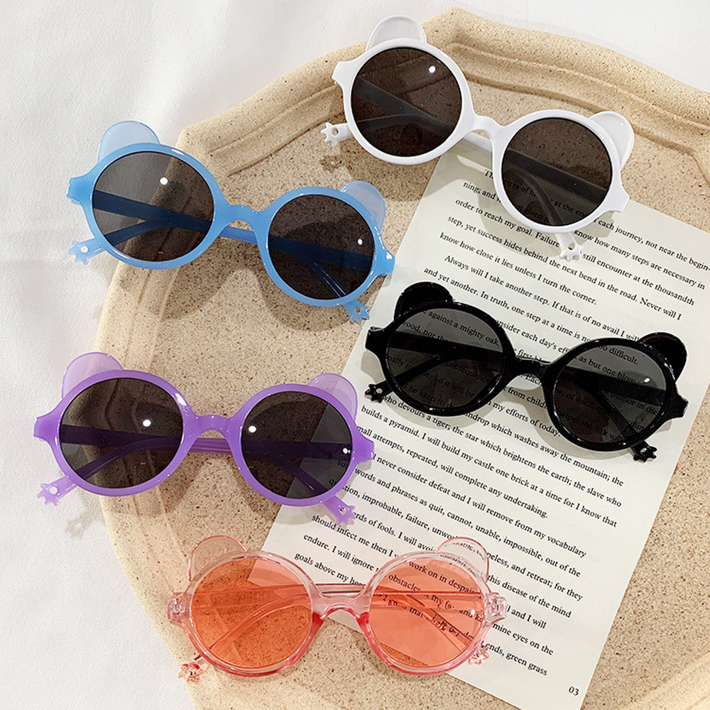 2020 nuovo Orso Forma Bella Bambini Occhiali Da Sole Grigio Ovale Lenti di Alta Qualità Occhiali Da Bambino Della Ragazza del Ragazzo Del Bambino Oculos De Sol infantil UV400