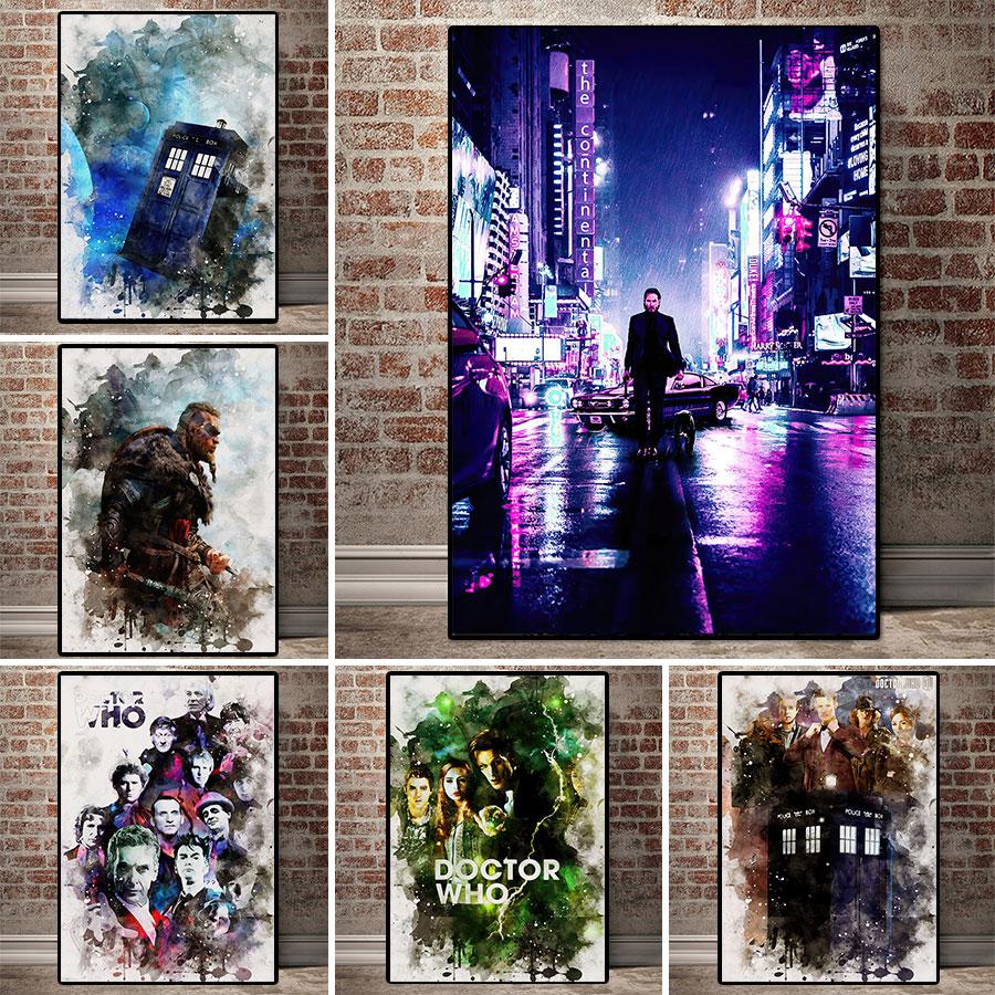 British sciencefiction film doctor. who fotos pintura em tela pintura abstrata cartaz modernwall arte na sala de estar decoração de casa