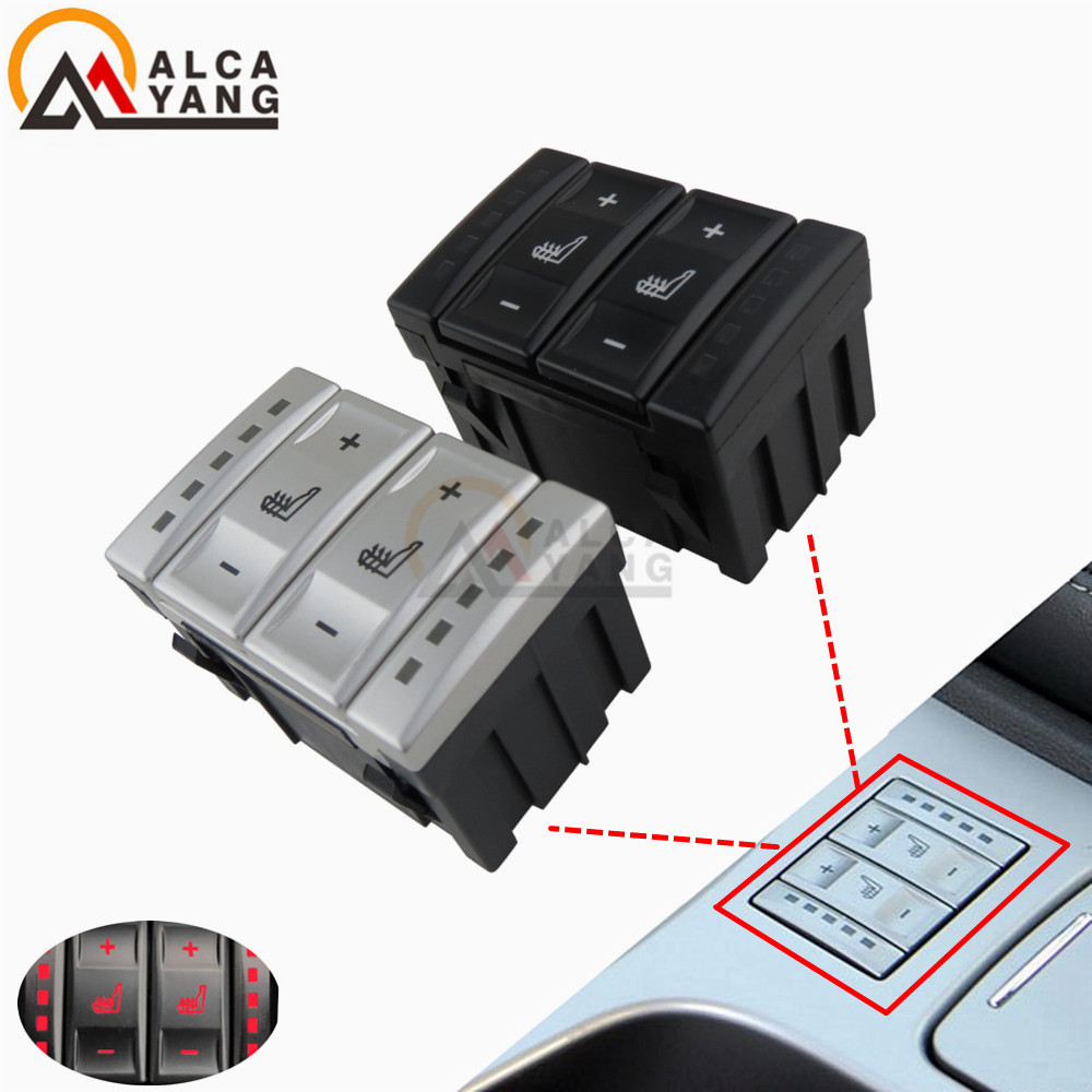 Nova prata & preto assento interruptor de controle botão aquecimento 6m2t 19k314 ac 6m2t19k314ac para ford mondeo mk4 S-MAX galaxy mk 3