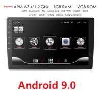 1 9/10 pulgadas Android 9,0 navegación GPS Autoradio Multimedia reproductor de DVD Bluetooth WIFI MirrorLink OBD2 Universal 2Din Radio de coche