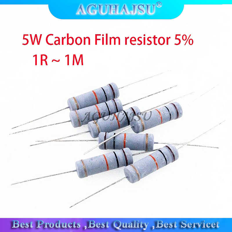33pcs 1K 1000 Ohm 5/% 5W Leistung Farbe Ring Metall Oxid Folie Resistor DE de