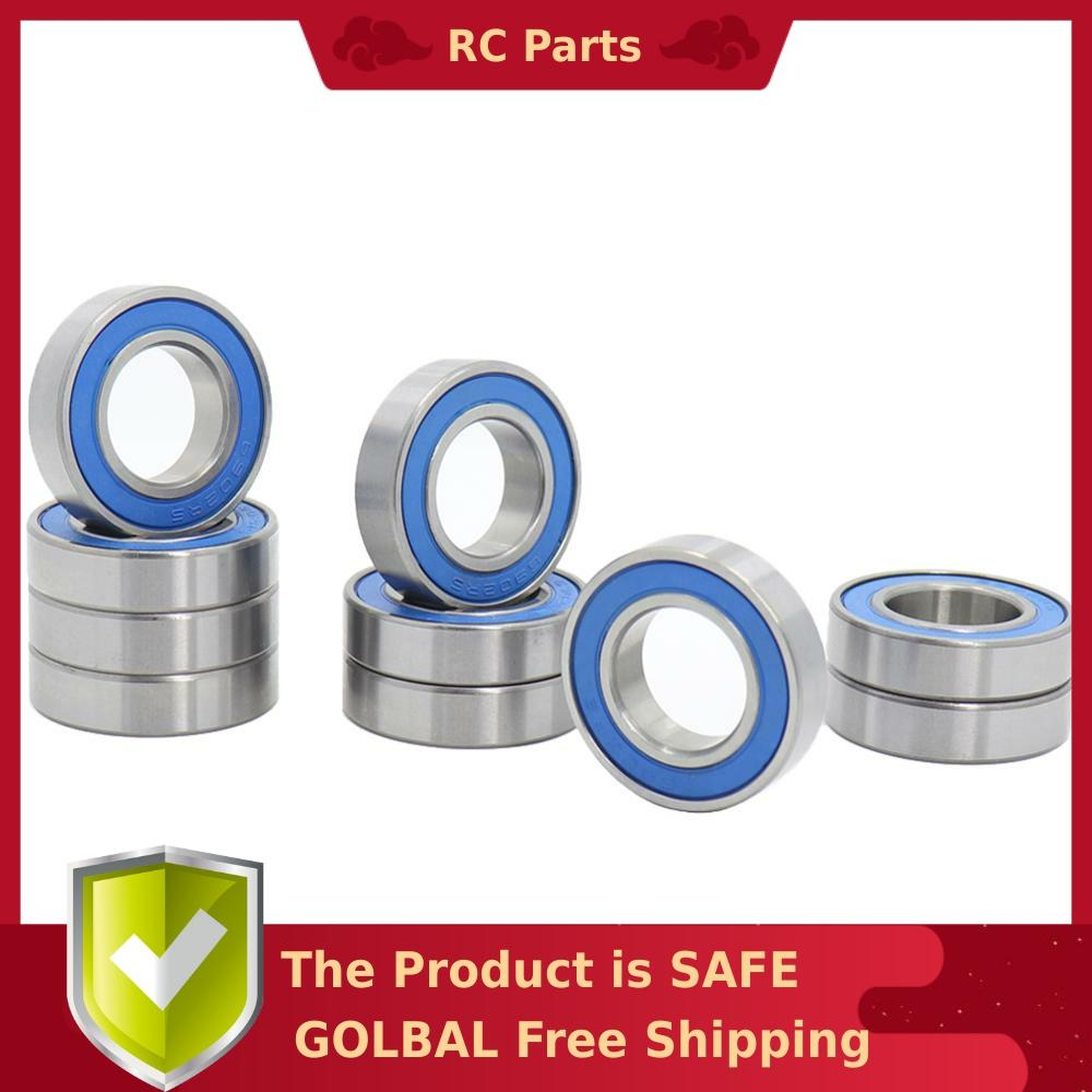 6902RS Bearing 10 PCS 15x28x7 mm ABEC-<font><b>3</b></font> Hobby Electric RC Car Truck 6902 RS 2RS Ball Bearings 6902-2RS Blue Sealed image