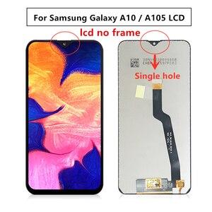 Image 4 - Digitalizador lcd para samsung galaxy, peças de reposição para galaxy a10, a105 a105f SM A105F 2019, com moldura a10