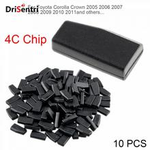 10pcs Blank ID4C Carbon Chip Car Key Transponder Fit for Toyota Corolla Crown 2005 2006 2007 2008 2009 2010 2011, etc New
